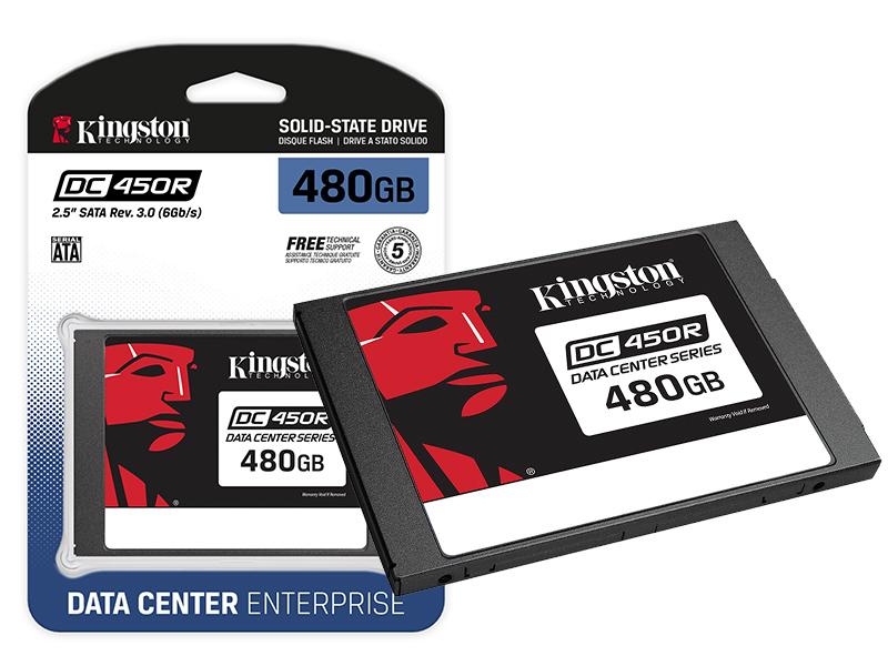SSD SATA Servidor Kingston SEDC450R/480G DC450R 480GB 2.5 SATA III 6GB/S