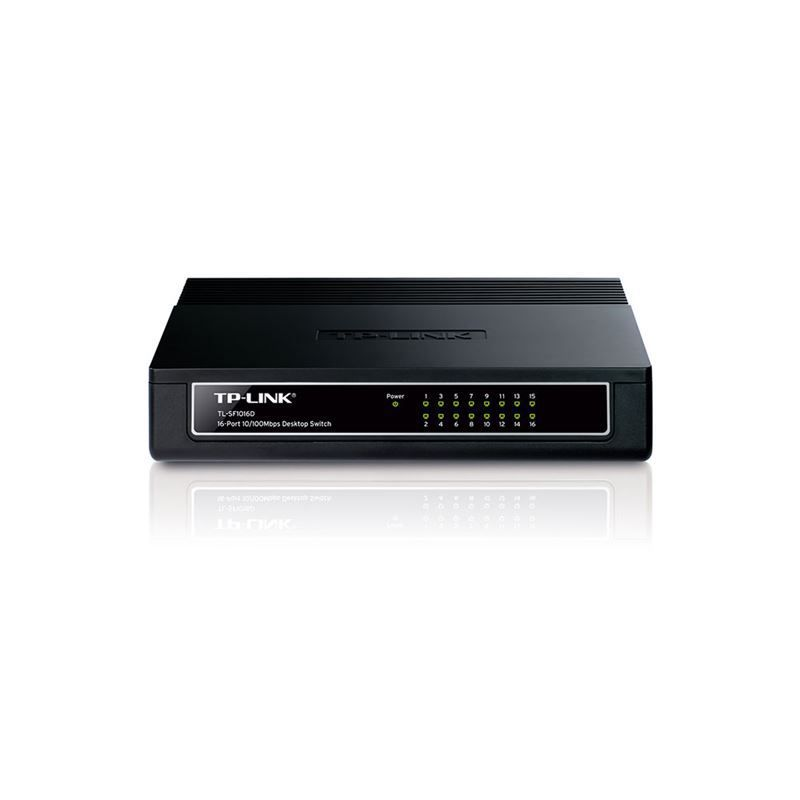 Switch TP-LINK 16 Portas 10/100 Desktop (TL-SF1016D T)