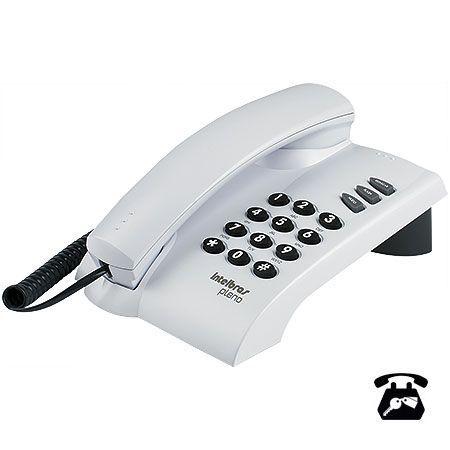 Telefone com Fio Pleno com Chave Cinza Artico Intelbras