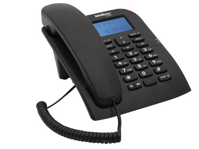 Telefone Fixo com Identificador de Chamadas TC60ID Preto Intelbras
