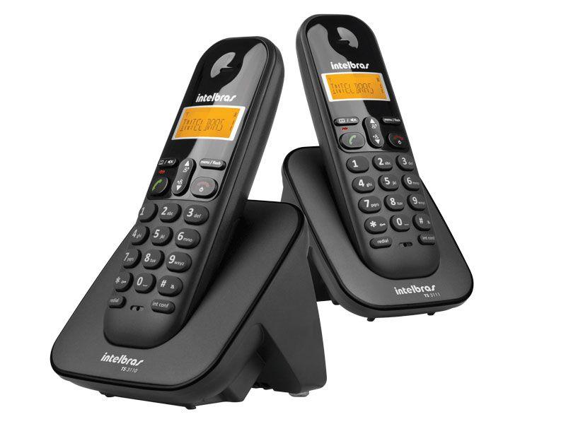 Telefone Intelbras sem Fio TS3112 Preto - 4123102