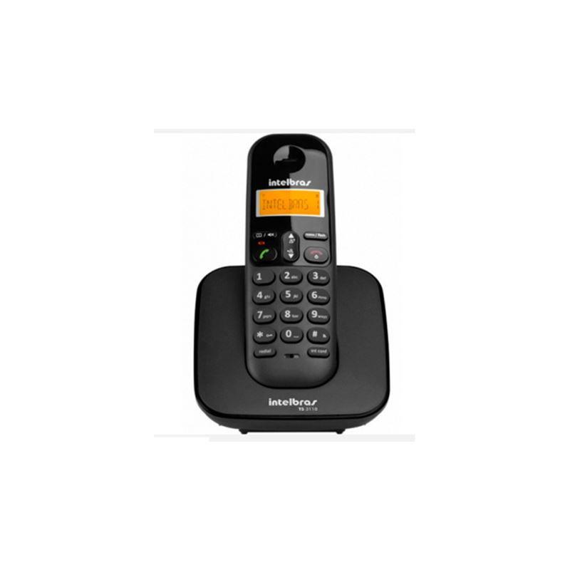 Telefone sem Fio Digital com Identificador de Chamadas TS3110 Preto Intelbras