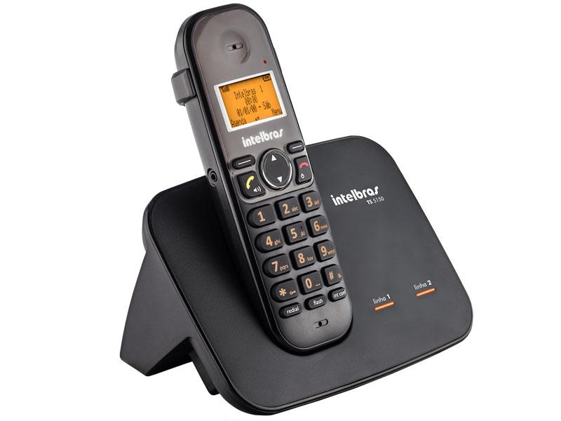 Telefones sem Fio Intelbras ICON 4125150 TS5150 Digital com Entrada para 2 Linhas