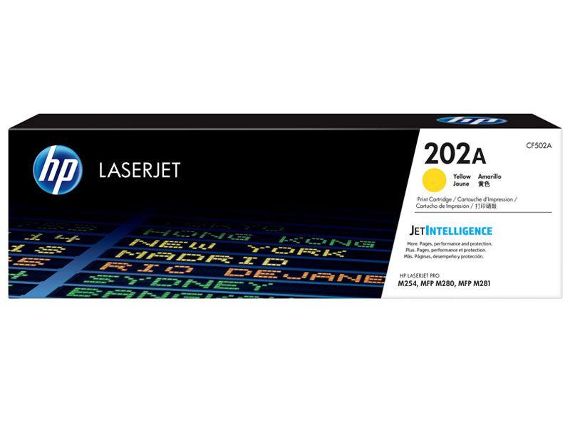 Toner Laserjet Color HP Suprimentos CF502A HP 202A Amarelo M254DW / M281FDW