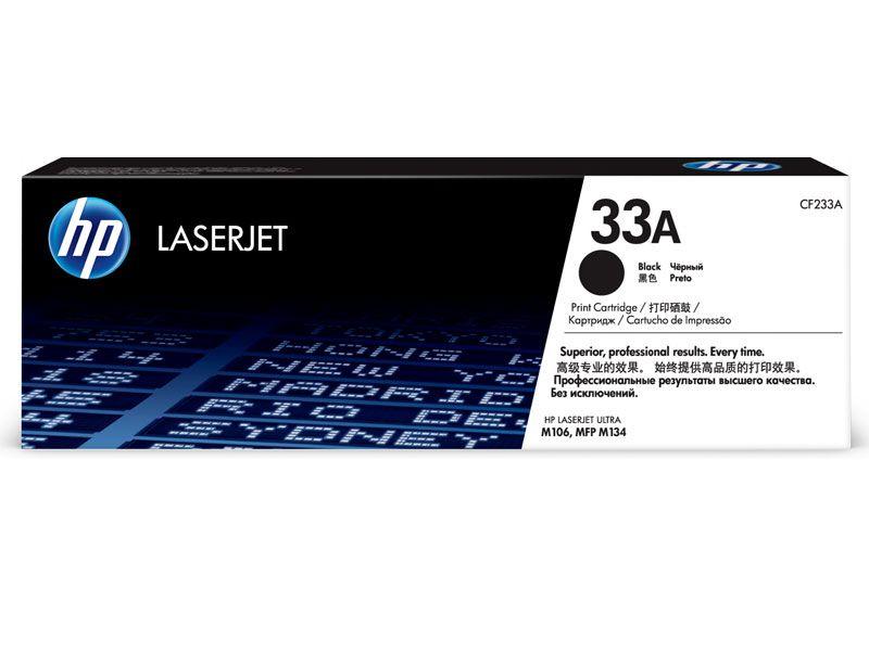 Toner Laserjet Mono HP Suprimentos CF233A HP 33A Preto M106 / M134