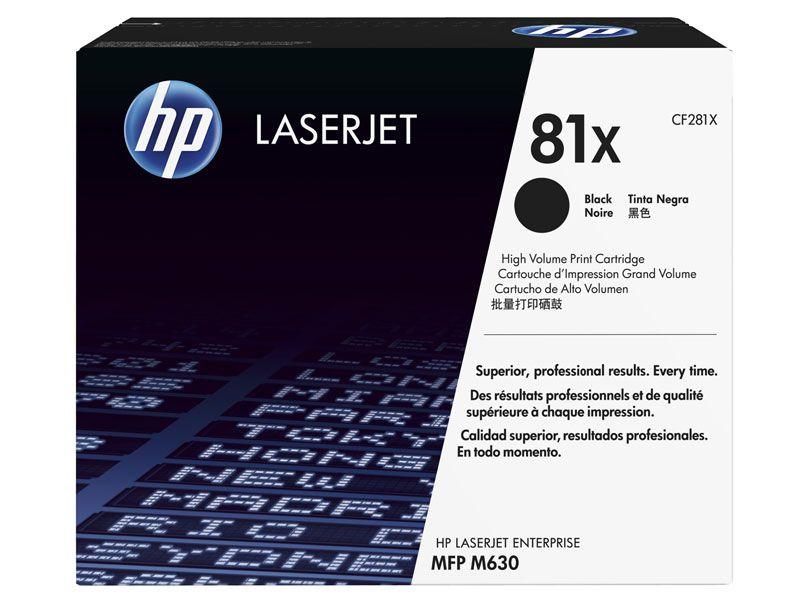 Toner Laserjet Mono HP Suprimentos CF281X HP 81X Preto M604 / M605 / M606 / M630F / M630Z / M630H
