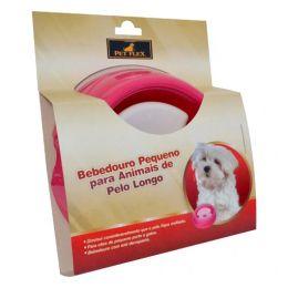 Bebedouro para Cães de Pequeno Porte de Pelo Longo com Boia Petflex Rosa