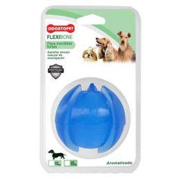 Bola Espacial para Cachorro até 22Kg Flexibone Azul Odontopet