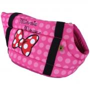 Bolsa de Transporte para Cães e Gatos Poá Pink Minnie Disney