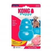 Brinquedo Interativo para Cachorro Filhote Kong Puppy com Dispenser para Ração Azul
