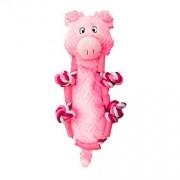 Brinquedo Kong Para Cachorro de Pelúcia Barnyard Knots Pig