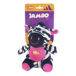 Brinquedo Mordedor Pelúcia Safari Zebra Jambo