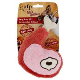 Brinquedo para Cachorro AFP - All For Paws Coxa de Frango de Pelúcia Vermelho