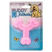 Brinquedo para Cachorro Buddy Toys Ossinho Filhotes Rosa