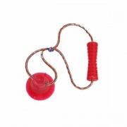 Brinquedo para Cachorro Cabo de Guerra com Ventosa Bite Toy Petmaxx Vermelho