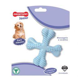 Brinquedo para Cachorro Filhote Spinner Odontopet Junior Azul