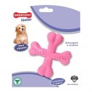 Brinquedo para Cachorro Filhote Spinner Odontopet Junior Rosa