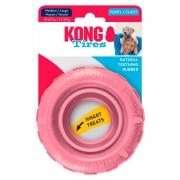 Brinquedo para Cachorro Kong Pneu Rechável Tires Puppy Rosa