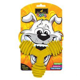 Brinquedo para Cachorro Triângulo Pet Flex Amarelo Grande