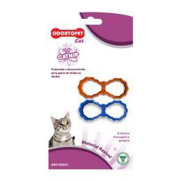 Brinquedo para Gato com Catnip Odontopet Cat Laço Azul / Laranja
