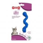 Brinquedo para Gato com Catnip Odontopet Cat Minhoca Azul