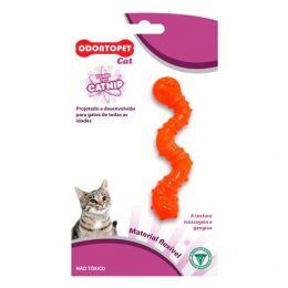 Brinquedo para gato com catnip Odontopet Cat Minhoca Laranja