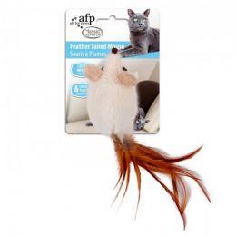 Brinquedo para Gatos AFP Classic Comfort Rato com Rabo de Penas Branca - Feather Tailed Mouse