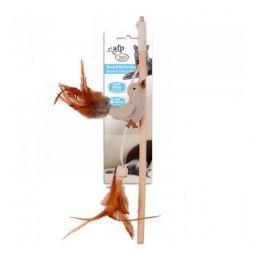 Brinquedo para Gatos AFP Classic Comfort Varinha de Madeira e Pássaro com Penas - Wood & Bird Feather Wand