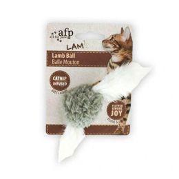 Brinquedo para Gatos AFP LAM Cordeiro de Penas Cinza - Lamb Ball