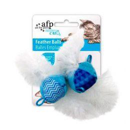 Brinquedo para Gatos AFP Modern Cat Bolas de Penas Azul - Feather Balls