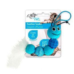 Brinquedo para Gatos AFP Modern Cat Cobra de Penas Azul - Feather Snake