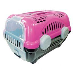 Caixa de Transporte Furacão Pet Luxo Rosa e Preto