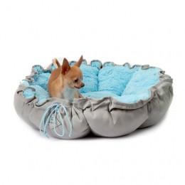 Cama para Cachorro e Gato Florença Bichinho Chic Azul