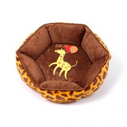 Cama para Cachorro e Gato Girafa Emporium Distripet Marrom