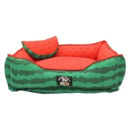 Cama para Cachorro e Gato Melancia Emporium Distripet Verde e Vermelha