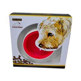 Comedouro Gourmet Pet Flex Para Cachorros e Gatos Vermelho