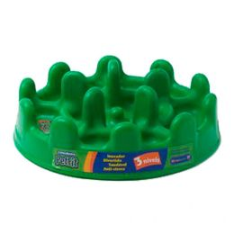 Comedouro Lento Pet Games Pet Fit Verde