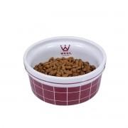 Comedouro para Cachorro e Gato Woof Pet Porcelana Grid Sheep Vinho