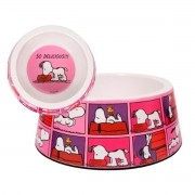 Comedouro para Cachorro Melanina Snoopy Film Color Pink Zooz Pets