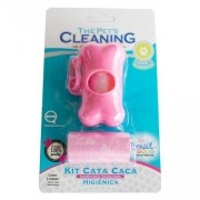 Conjunto Cata Caca Rosa The Pet's Cleaning