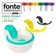 Fonte Bebedouro Petlon Colors Kit Verde Tiffany / Amarelo / Preto