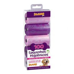 Refil Cata Caca Luxo Girl Rosa com 5 Rolos Jambo
