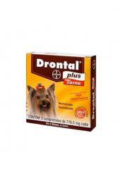 Vermífugo Bayer Drontal Plus Sabor Carne - Cães 10 Kg-1 Unidade com 2 Comprimidos