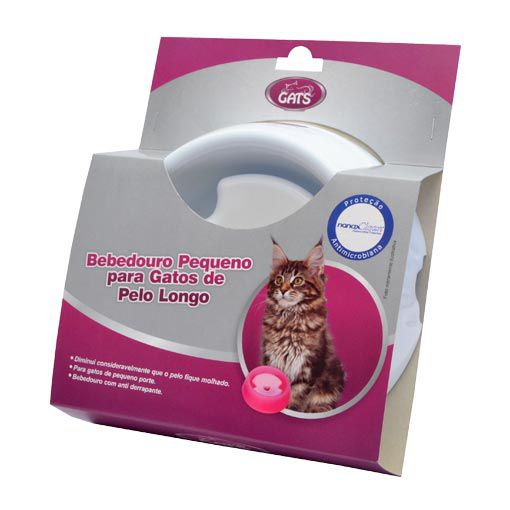 Bebedouro Pequeno para Gatos de Pelo Longo com Boia Gats Azul
