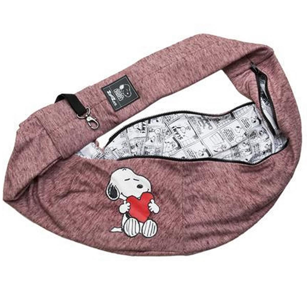 Bolsa de Transporte para Cachorro Sling Snoopy Presidente Zooz Petz Vermelho