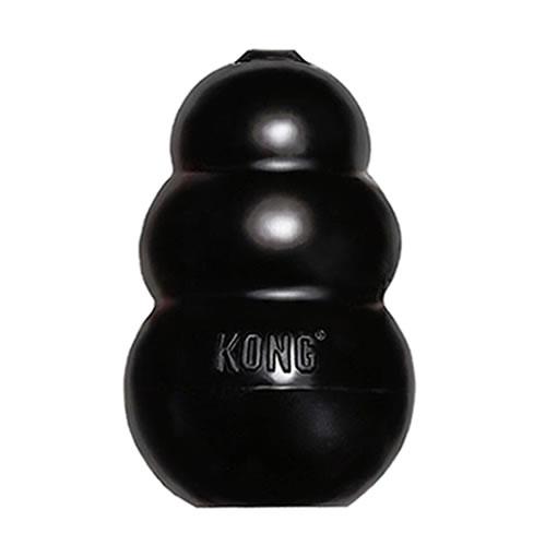 Brinquedo Interativo Kong Extreme com Dispenser para Ração ou Petisco Preto