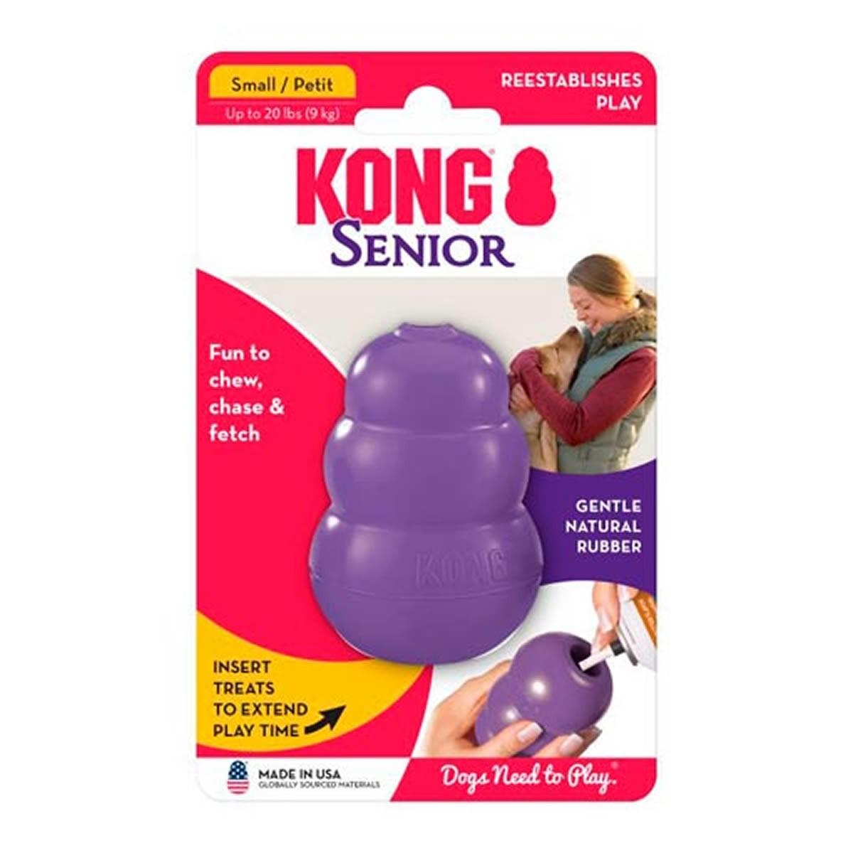 Brinquedo Interativo para Cachorro Kong Senior com Dispenser para Ração