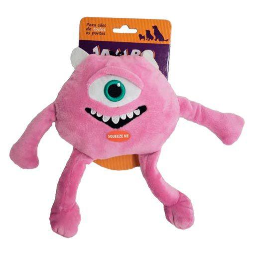 Brinquedo Mordedor Pelúcia Monstro Rosa Jambo - Grande