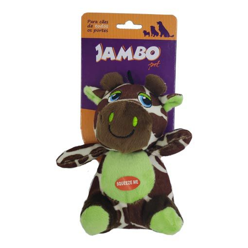 Brinquedo Mordedor Pelúcia Safari Girafa Jambo