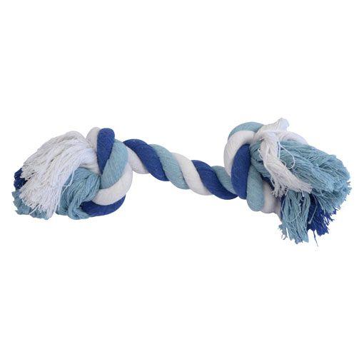 Brinquedo Osso de Corda para Cães Azul Pet Flex Toys